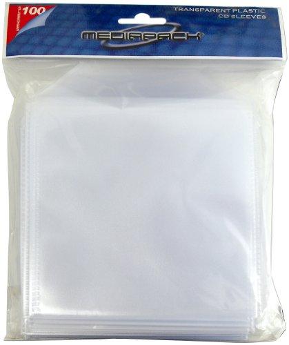 CD Hülle, Hüllen transparente Plastik Tasche mit Klappe, 100 Stück