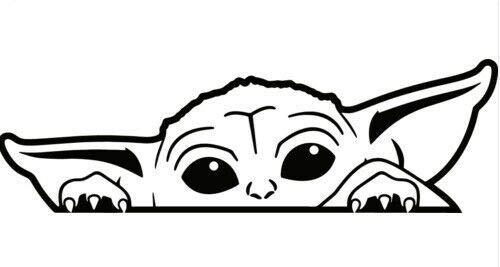 Peeking yoda cute meme funny decal sticker,car,laptop