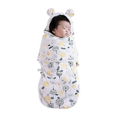 Drizzle Baby Swaddle Neonato Coperta Sacco a Pelo per Bebè Proteggi il Collo Bambino Neonato Coperte Sacco Nanna Facile Cambiare Pannolini Maschi Femmine Trapunta Bebè 0-6 mesi 35x75 cm