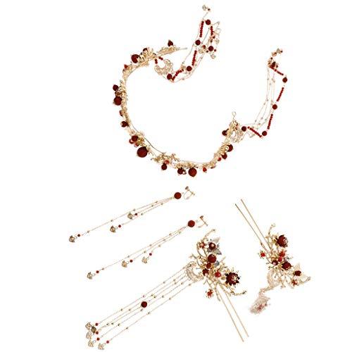 yotijar Alfiler rojo para novia con accesorios de joyería en