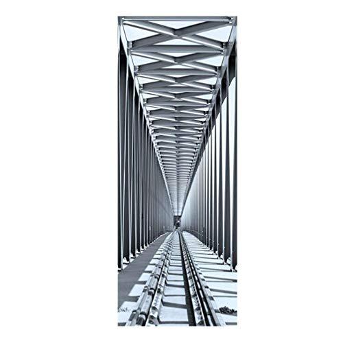 3D Retro Arte Puerta calcomanías Vino Rojo Vidrio Impreso removible Impermeable Puerta Impermeable Pared Mural Puerta para la decoración del hogar DIY decoración del Cartel LTLNB (Color : Picture 3)