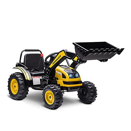 HOMCOM Tractor Excavadora Eléctrico para Niños...