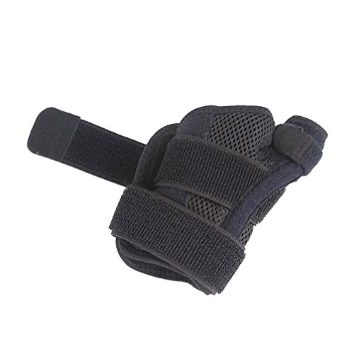 Healifty Handgelenkbandagen mit Daumenstabilisator Elastische Zweigleisig Handgelenkschiene Daumenstütze Daumenschiene für Sehnenentzündung Arthritis(Schwarz)