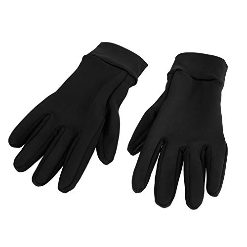 Cycling Gloves MTB Road Gloves Mountain Bike Waterproof Touch Screen Gloves Men Winter Cycling Skiing Full Finger Gloves for Used in Winter Sports (Color : Black, Size : L)