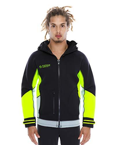 Unisex PRO Neoprene Jacket Wetsuit Hoodie - Waterproof Wind Sailing Fishing Surf Jackets for Men and Women (Green, XXL)