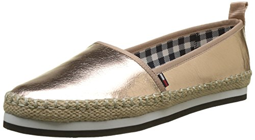 Hilfiger Denim Damen Sporty METALLIC Slip ON Espadrilles, Pink (Rose Gold 638), 40 EU