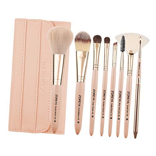 CUTICATE 8pcs Pinceaux de Maquillage avec Organisateur de Stockage Brosses de Cosmétique Kabuki Brushe Pour Poudre, Blush, Ombre, Fard à Paupières