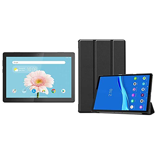 Lenovo Tab M10 HD Tablet (10.1-inch, 2GB, 32GB, Wi-Fi + 4G LTE, Volte Calling), Slate Black + Cover