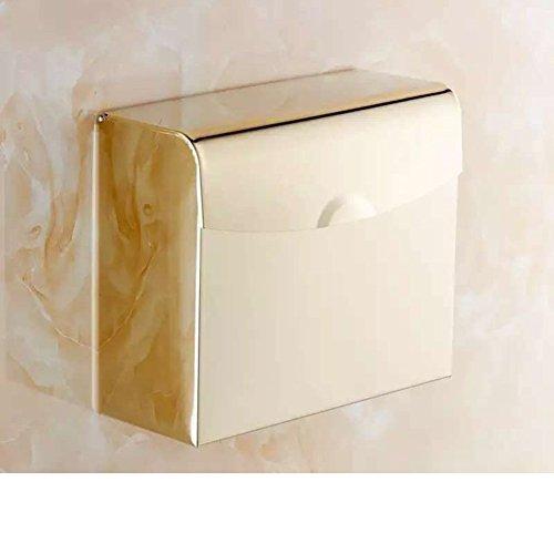 Europäische vergoldete Toilettenpapier Halter/Platz des WC-Papier-Fach/völlig wasserdicht WC-Papier Handtuch Box/WC-Rasen-Fach-E