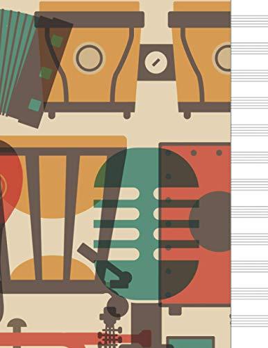 Cuaderno de música: libreta pentagrama