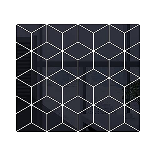 Etiqueta de la pared del arte Etiqueta de la pared del espejo 3D DIY Diamonds Triangles Acrílico Pegatinas de pared para niños Sala de estar Decoración del hogar Adesivo de Parede para la decoración d