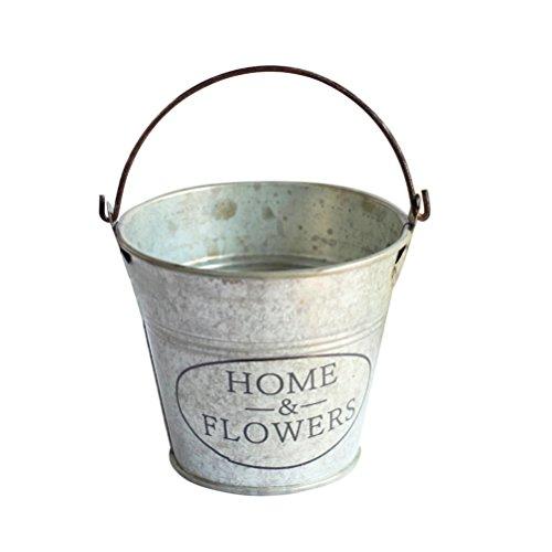 ounona cubo de metal cubo de flor para decoración de la casa uso interior y exterior