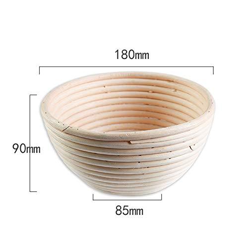 Oval brood gisting mand brooddeeg gisting rotanmand en liner combinatie