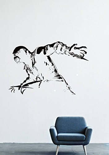 Wall Decals Decor Viny Scorpio Mortal Kombat Frost Fighter Warrior Costume Mask Dagger LM0280