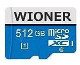 Tarjetas de memoria Micro SDXC de 512 GB Micro SD C10 de alta velocidad, tarjeta de memoria TF TF con adaptador SD para teléfono o cámara (512 GB)