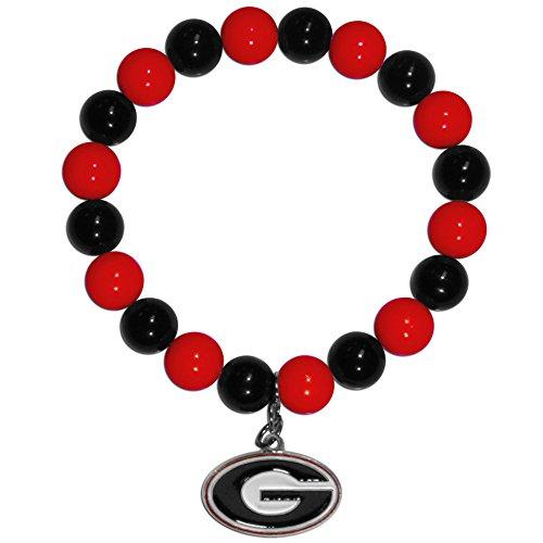 georgia bulldog charm bead - 4