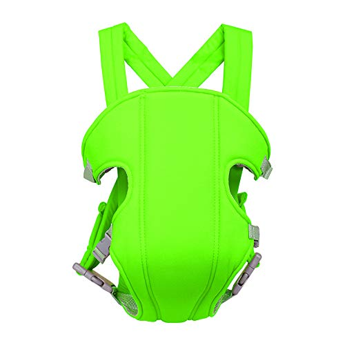 CellLucky Portabebés Transpirable de 2 a 30 Meses con Vista al Frente Cómoda Mochila Tipo Bandolera Wrap Correas de Seguridad Ajustables para bebés(Grün)