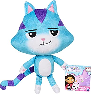 Gabby's Dollhouse, 8-inch CatRat Purr-ific Plush Toy, Kids Toys for Ages 3 and up from Spin Master