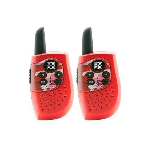 Cobra PMR HM230 Pareja Walkie Talkies Comunicadores de Dos Vías Color Rojo