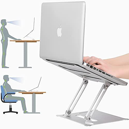 ARNTY Soporte Portatil Mesa,Laptop Stand,Soporte Ordenador Ajustable SoportePC Soporte para Elevador Portatil Soporte Macbook/Laptop (Plata)
