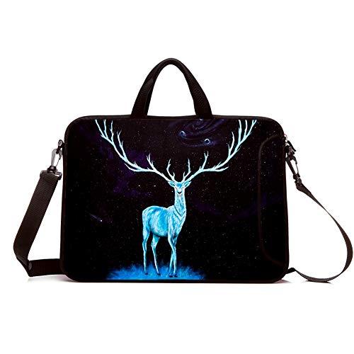 hdaba 11.6' 12' 12.9' 13.3 Inch Laptop Shoulder Bag Sleeve Case Protective Bag Messenger Briefcase Carrying Case with Handle Adjustable Shoulder Strap Pocket for ASUS/HP/DELL/Acer (Elephant)