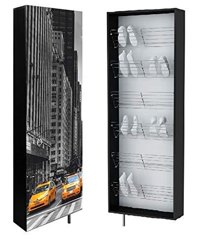 BIM Furniture Taxi - Zapatero giratorio (4 estantes, 4 estantes, 186 x 63,6 x 18 cm)