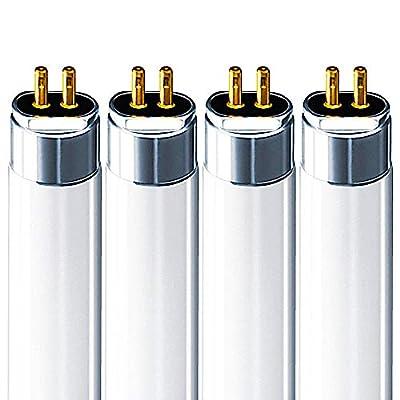 Luxrite LR20770 T5 High Output 54-Watt 4 ft Fluorescent Tube Light Bulb, Cool White 4100K, 4200 Lumens, G5 mini bi-pin base