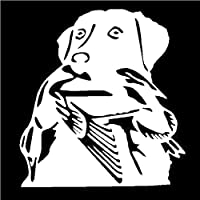 5 ピース 車のバンパーステッカー13.6 * 14.6CMラブラドール犬の車のステッカービニールデカール車のスタイリングアクセサリー