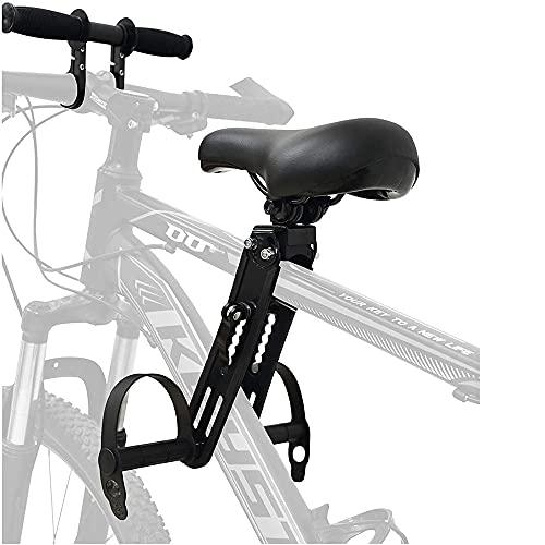 BDXZJ Asiento de Bicicleta para Niños Montado En La Parte Delantera Asiento de Bicicleta para Niños con Asa para Bicicletas de Montaña Portátil Extraíble Manillar de Bicicleta