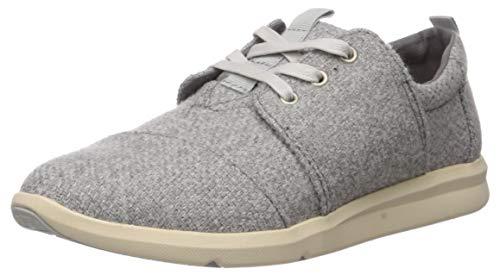 TOMS Women's Del Rey Shoe, Drizzle Grey Melange, 8.5 Medium US