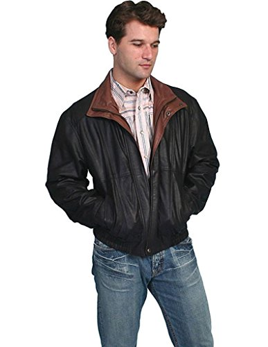 Scully Men's Double Collar Leather Jacket Black X-Large