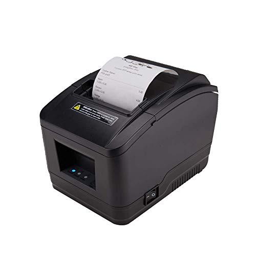 Printers Impresora térmica de 80 mm, Impresora con Cable USB con Cortador automático y Puerto de cajón de Efectivo para Negocios minoristas, Compatible con Sistema Windows Mac ESC/POS