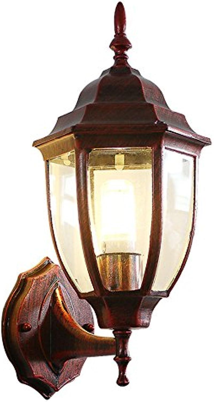 StiefelU LED Wandleuchte nach oben und unten Wandleuchten Wandleuchte aus Eisen retro Wasserdichte outdoor Flure, Treppen LED rot 36,5  20 CM lackiert