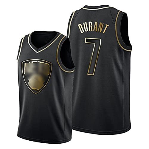 WLXA Camiseta De Kevin Durant para Hombre, Uniforme De Baloncesto De Los Brooklyn Nets # 7 Chaleco Sin Mangas Transpirable Ropa Deportiva De Entrenamiento Superior Black C-L