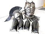 Nautical Replica Hub Medieval 300 Espartano Casco Maximus Armadura muscular y cuero brazo guardia - Disfraz de Halloween