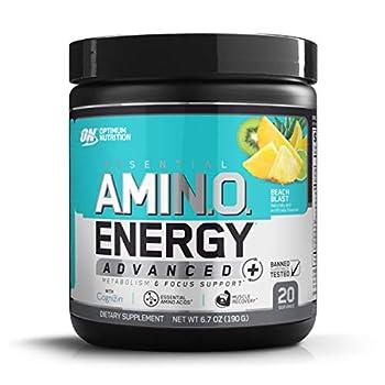 Optimum Nutrition Essential Amino Energy Advanced Plus Metabolism and Focus Support Beach Blast 20 Servings