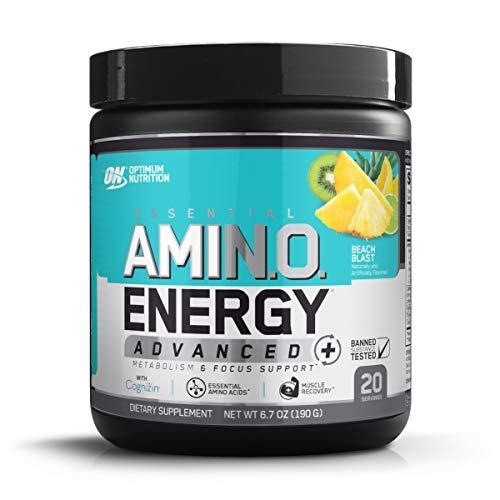 Optimum Nutrition Essential Amino Energy Advanced Plus Metabolism and Focus Support, Beach Blast, 20...
