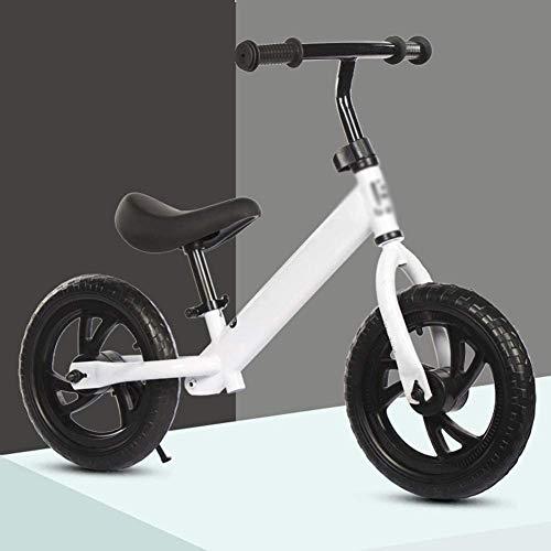 YWSZJ Bicicleta de Equilibrio de 12', Marco de Acero al Carbono, sin Pedal, para Caminar, Bicicleta de Entrenamiento para niños pequeños de 2 a 6 años (Color : A)