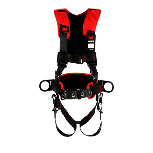 3M Protecta Comfort Construction Style Positioning Harness 1161205, Black, Medium/Large, 1 EA/Case