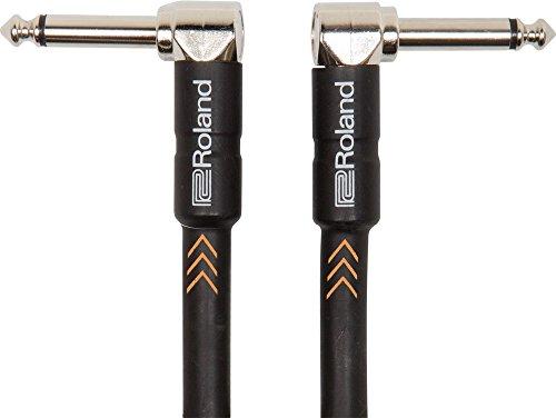 Roland Black-Serie Patch/Pedal-Kabel – Patch/Pedal-Kabel – gewinkelte 6,3-mm-Klinkenstecker, Länge: 15 cm – RIC-BPC