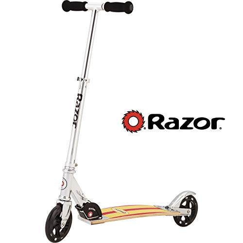 Cheapest Prices! Razor Cruiser Scooter - Yellow/Red Wood Deck