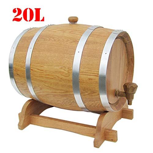 FYJTL Weinfass - Keine Leckage Weinbereitung Holzwaren Kein Liner Eichenfass Holzfass Zapfhahn Massives Schnapsfass Quality Unlackiertes Holzfass,3
