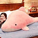Zhangmeiren Delfines Juguete De Peluche Almohada Sueño Muñeca Muñeca Muñeca del Regalo De Cumpleaños (Color : Pink, Size : 120cm)