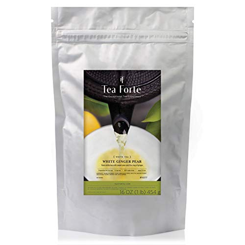 Tea Forté ONE POUND POUCH, Loose Bulk Tea - White Ginger Pear White Tea
