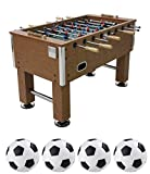 Fútbol de Mesa Grande Futbolín de Madera, Profesional para Competiciones Individuales o Juegos de Grupo con 4 pelotas de fútbol Seguros y Pesados Jugar Deportes Diversión Regalos 142 * 78 * 86 cm