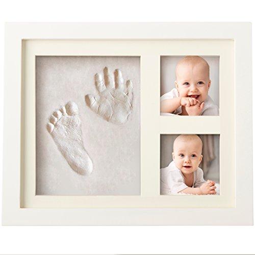 Bubzi Co Set de Marco de fotos y Huellas de bebé en Arcilla - Recuerdo de las huellas de mano y pie - Regalos para bebes - Set de modelado ideal decoración de habitación bebé o regalo de baby shower
