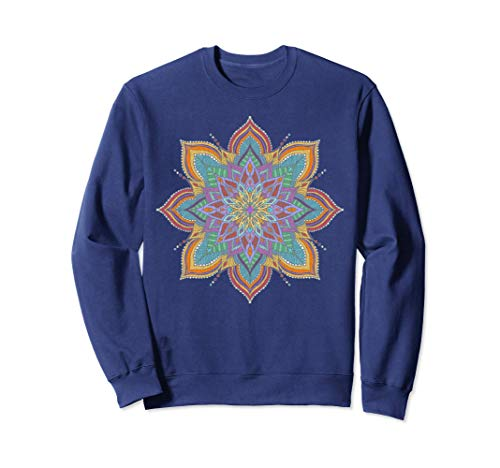 Womens Mandala art, yoga wear, hippie style with gypsy soul Felpa