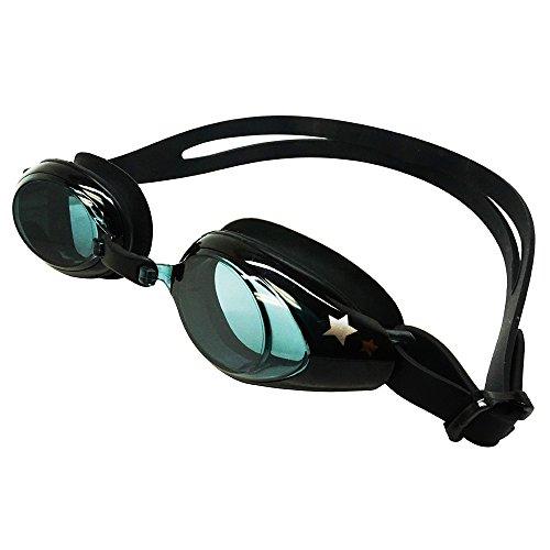 Palantic UV Nearsighted Prescription Corrective Youth Swim Goggles (-2,0), Nero