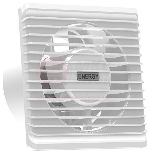 La energía baja cocina baño silenciosa campana extractora 100 mm con extracción ventilación sensor de humedad