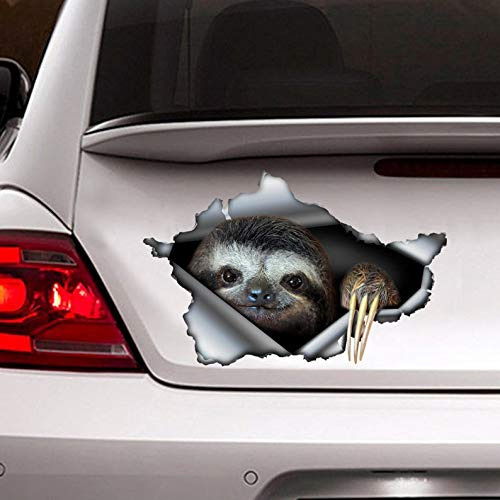 Sloth Decal, car Decoration, Funny Sloth Sticker Vinyl Sticker for Cars, Windows, Walls, Fridge, Toilet and More - 6 Inch